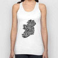 ruben ireland Tank Tops featuring Typographic Ireland by CAPow!