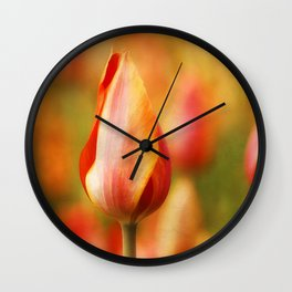 Tulips of Fire Wall Clock
