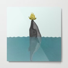 A True Kiss by the Giant Whale Metal Print