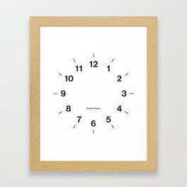 Time Clock 2 Framed Art Print