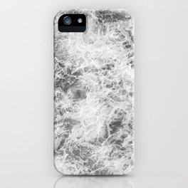 Black and white abstract pattern. waves iPhone Case