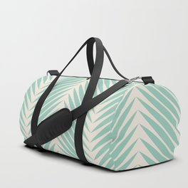 Palm Symmetry - Teal Duffle Bag