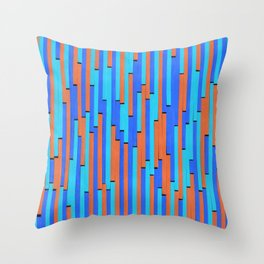 Paper Stripes - Color variation 2 Throw Pillow