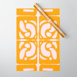 Abstract in Yellow and Cream Wrapping Paper