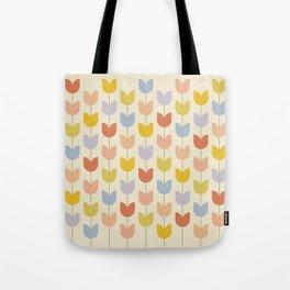 Tulip Pattern - Rainbow Tote Bag
