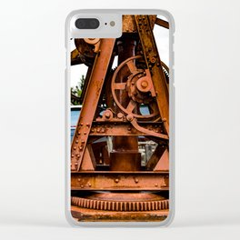The Old Rusty Ship Crane Clear iPhone Case