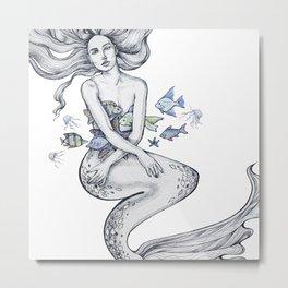Gorgeous merwoman Metal Print