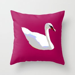 Swanning Throw Pillow