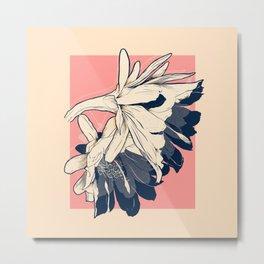 Cactus flower halftone Metal Print