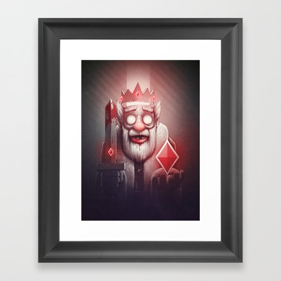 King of Doom Framed Art Print