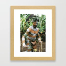 Papua New Guinea Villager Framed Art Print