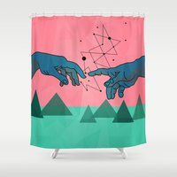 posters Shower Curtains featuring cool by mark ashkenazi