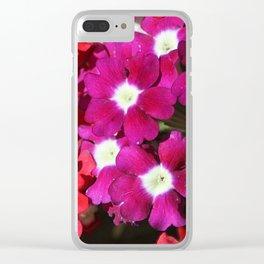verbena flowers Clear iPhone Case