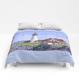Portland Head Lighthouse Comforters
