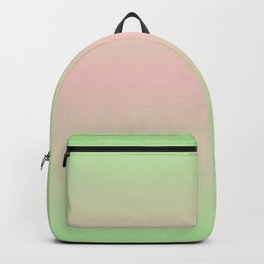 PARADISE MIST green & pink colors ombre pattern  Backpack