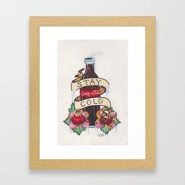 Stay Cold Framed Art Print