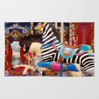 carousel Area & Throw Rugs featuring Carousel by laika in cosmos