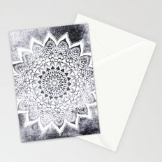 BOHO WHITE NIGHTS MANDALA Stationery Cards