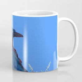 BLUE CROW WINTER SNOWFLAKE ART Coffee Mug