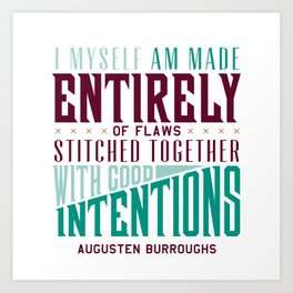 Augusten Burroughs Quote Art Print