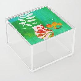 Fern & Peaches Still Life Acrylic Box