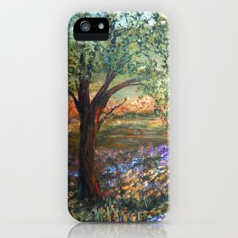 Serene Meadow, Impressionism Landscape iPhone Case