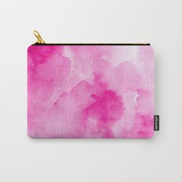 Hand painted magenta pink modern watercolor Carry-All Pouch