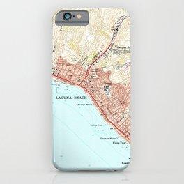 Vintage Map of Laguna Beach California (1965) iPhone Case