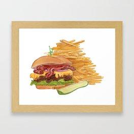 Dinner Time Framed Art Print