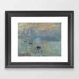 Claude Monet's Impression, Soleil Levant Framed Art Print