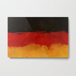 Watercolor flag of Germany Metal Print