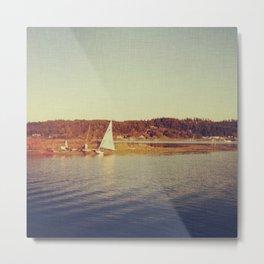 Fisherman's Bay of Lopez Island Metal Print