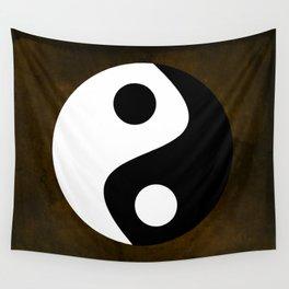 Yin and Yang - Brown Wall Tapestry