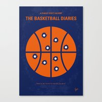 No782 My The Basketball Diaries minimal movie poster Canvas Print