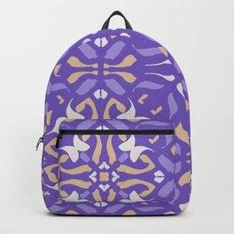 Lilac Aesthetics Purple Mandala - Boho Symmetric Abstract Tiles Backpack