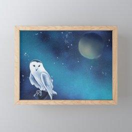 White owl Framed Mini Art Print