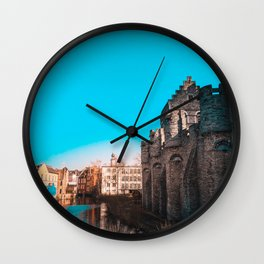 Ghent River View Wall Clock