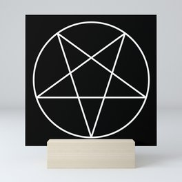 Inverted Pentagram Mini Art Print