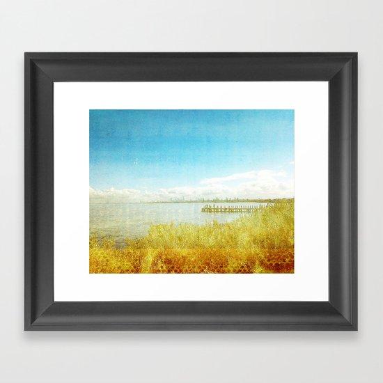 the bay _ elwood beach Framed Art Print