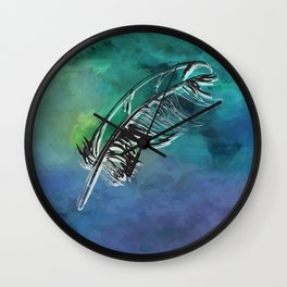 Flying Feather Wall Clock