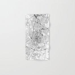 Austin White Map Hand & Bath Towel