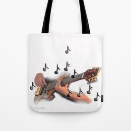 Abstract Guitar player Tote Bag