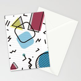 Modernistic abstract shape pattern texture Stationery Cards