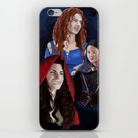 ouat iPhone & iPod Skins featuring Warrior Women of OUAT by Christine Ring