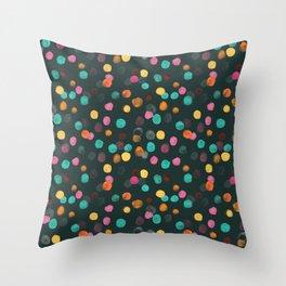 Painted Polka Throw Pillow