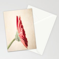 Textured Red Gerbera  Stationery Cards