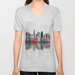 New York City Skyline Unisex V-Neck