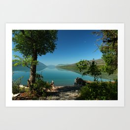 Moody Lake McDonald Art Print