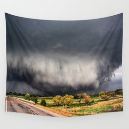 Tornado Day - Storm Touches Down in Northwest Oklahoma Wall Tapestry