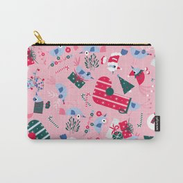 Christmas Birdies - Pink Carry-All Pouch